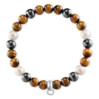 Buy Thomas Sabo Tiger's Eye Pearl Haematite L Charm Club Bracelet