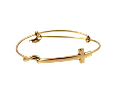 Buy Alex and Ani Cross Wrap in Rafaelian Gold Finish