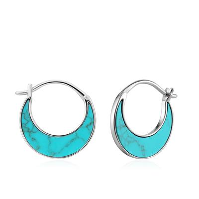 Buy Ania Haie Turning Tides Turquoise & Silver Crescent Earrings