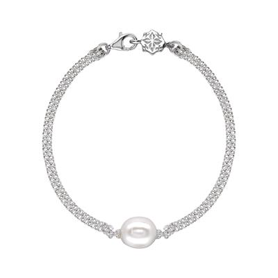 Buy Dower and Hall Luna Pearl White Pearl Chain Bracelet