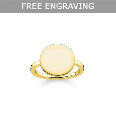 Buy Thomas Sabo Yellow Gold Disc Ring Size 52
