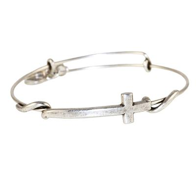 Buy Alex and Ani Cross Wrap in Rafaelian Silver Finish