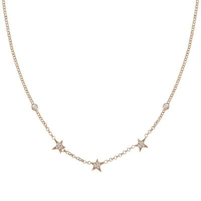 Buy Nomination Rose Gold Stella 3 Star CZ Necklace