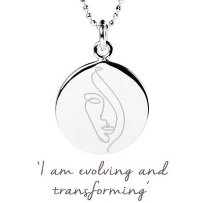 Buy Mantra Journey of Womanhood Disc Necklace in Sterling Silver