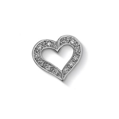 Buy Dower and Hall Silver Pave Open Heart Treasure