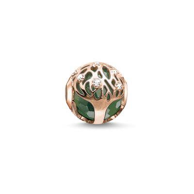 Buy Thomas Sabo Rose Gold Tree of Life Green Karma Bead