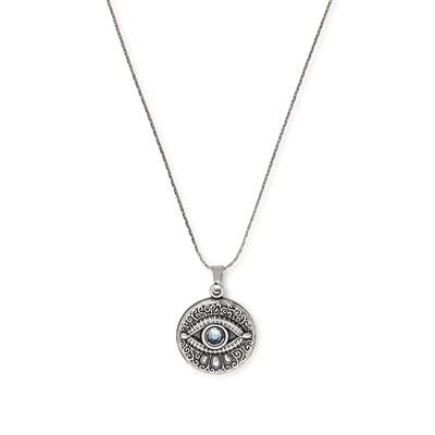 Buy Alex and Ani Evil Eye Necklace - Rafaelian Silver