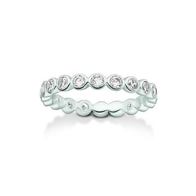 Buy Thomas Sabo Silver CZ Circles Ring 52