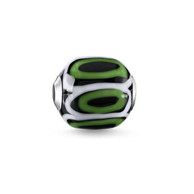 Buy Thomas Sabo Green Black Glass Bead