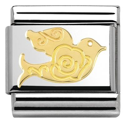 Buy Nomination Gold Rose Dove Charm