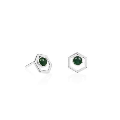 Buy Daisy Green Aventurine Healing Stone Stud Earrings