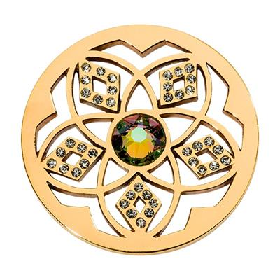 Buy Nikki Lissoni Charming Flower Gold Coin 33mm