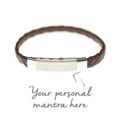 Buy MyMantra myMantra Personalised Men's Bracelet - Brown Leather