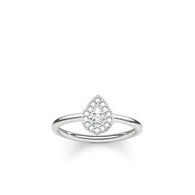 Buy Thomas Sabo Fatima's Garden Silver Water Drop Ring Size 56