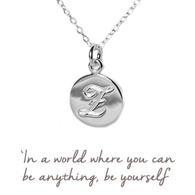 Buy E Mantra Initial Necklace
