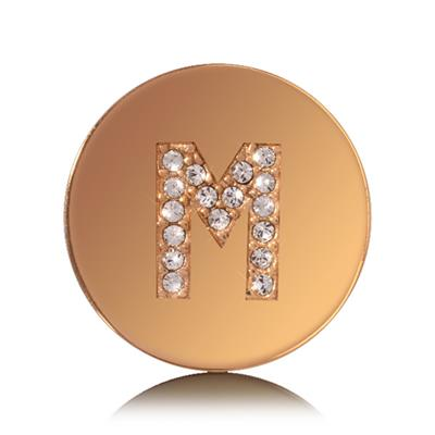 Buy Nikki Lissoni Letter M Small Gold Coin