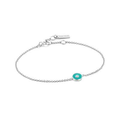 Buy Ania Haie Bright Future Teal Enamel & Silver Disc Bracelet