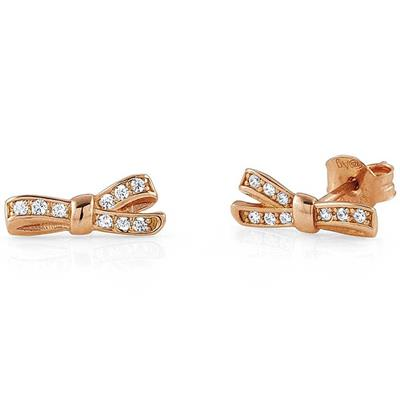 Buy Nomination Rose Gold CZ Bow Earrings