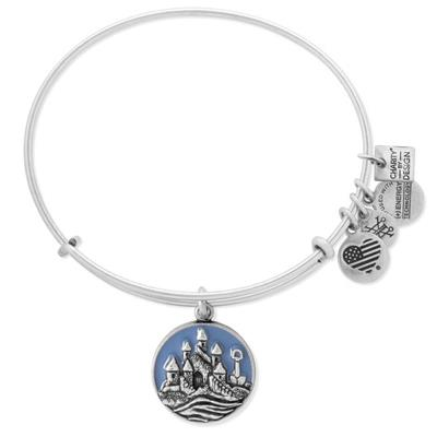 Buy Alex and Ani Sandcastle Charity by Design bangle in Rafaelian Silver