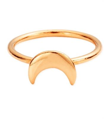 Buy ChloBo Rose Gold Moon Ring Small