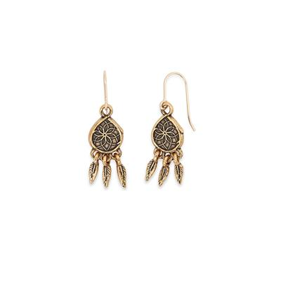 Buy Alex and Ani Dreamcatcher Precious Earrings in Gold