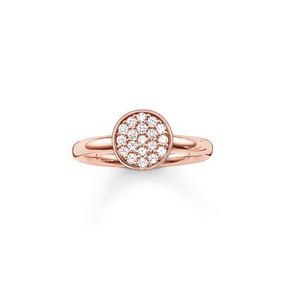 Buy Thomas Sabo Sparkling Circles Rose Gold Ring Size 54
