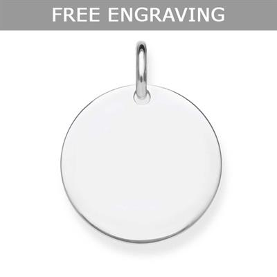 Buy Thomas Sabo Engravable Disc Pendant Silver