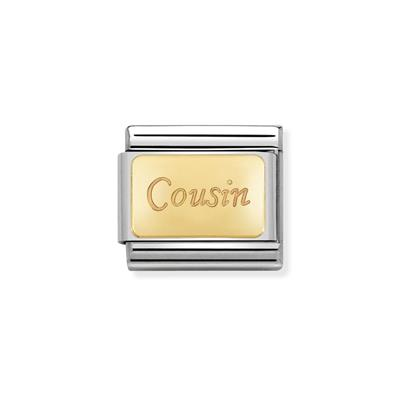 Buy Nomination Gold Cousin Plaque Charm