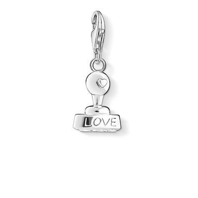 Buy Thomas Sabo Silver Love Stamp Charm