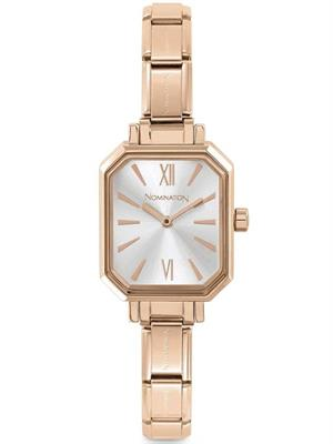 Buy Nomination Rose Gold Rectangle Charm Watch