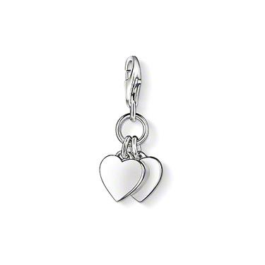 Buy Thomas Sabo Silver Two Hearts Charm