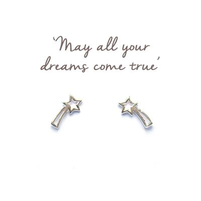 Buy Mantra Shooting Star Silver Stud Earrings