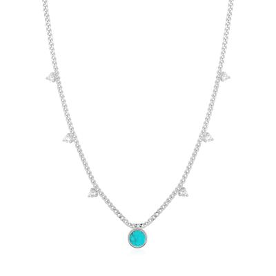 Buy Ania Haie Hidden Gem Silver Turquoise Drop Disc Necklace