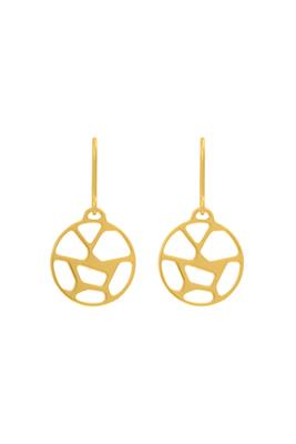 Buy Les Georgettes Gold Girafe Round Drop Earrings