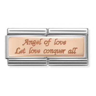 Buy Nomination Rose Gold Angel of Love Double Charm