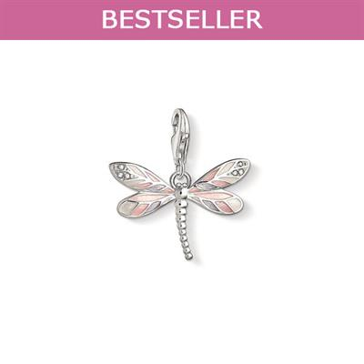 Buy Thomas Sabo Silver and Pink Dragonfly Charm