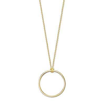 Buy Thomas Sabo Gold Circle Charm Necklace 90cm