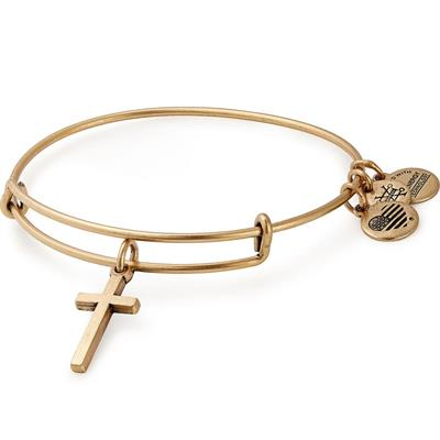 Buy Alex and Ani Cross Bangle in Rafaelian Gold
