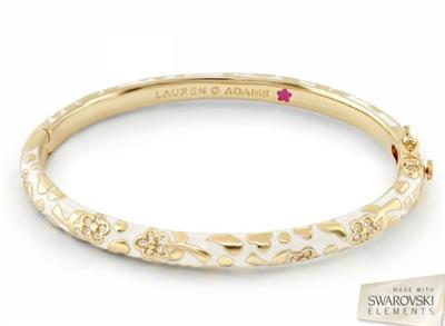 Buy Lauren G Adams Flowers by Orly White Bangle Small
