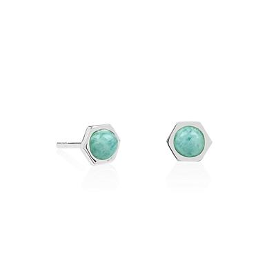 Buy Daisy Healing Stones Amazonite Harmony Hexagon Studs