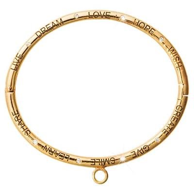 Buy Nikki Lissoni Gold Good Vibes Charm Bangle Small
