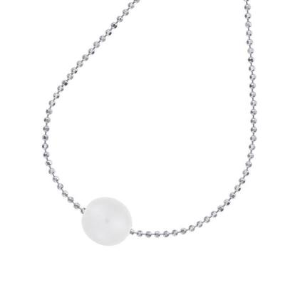 Buy Dower and Hall Sterling Silver 14mm Single White Pearl Necklace