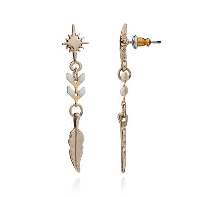 Buy Azuni Wishing Star Earrings in White and Gold