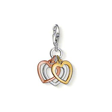 Buy Thomas Sabo Tri-colour Heart Cluster Charm