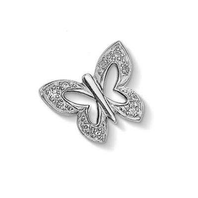 Buy Dower and Hall Silver Pave Butterfly Treasure