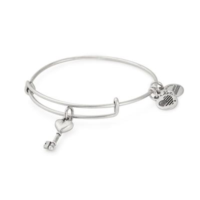 Buy Alex and Ani Key to Love Bangle in Rafaelian Silver