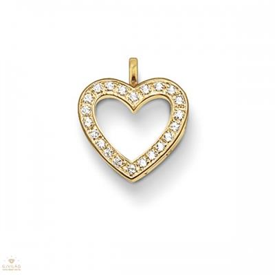 Buy Thomas Sabo Small Gold CZ Open Heart Pendant