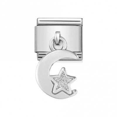Buy Nomination Hanging Moon and Star Charm