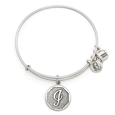 Buy Alex and Ani I Initial Bangle in Rafaelian Silver