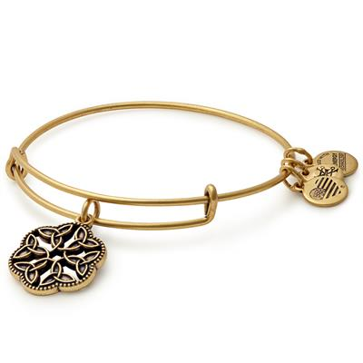 Buy Alex and Ani Endless Knot II bangle in Rafaelian Gold